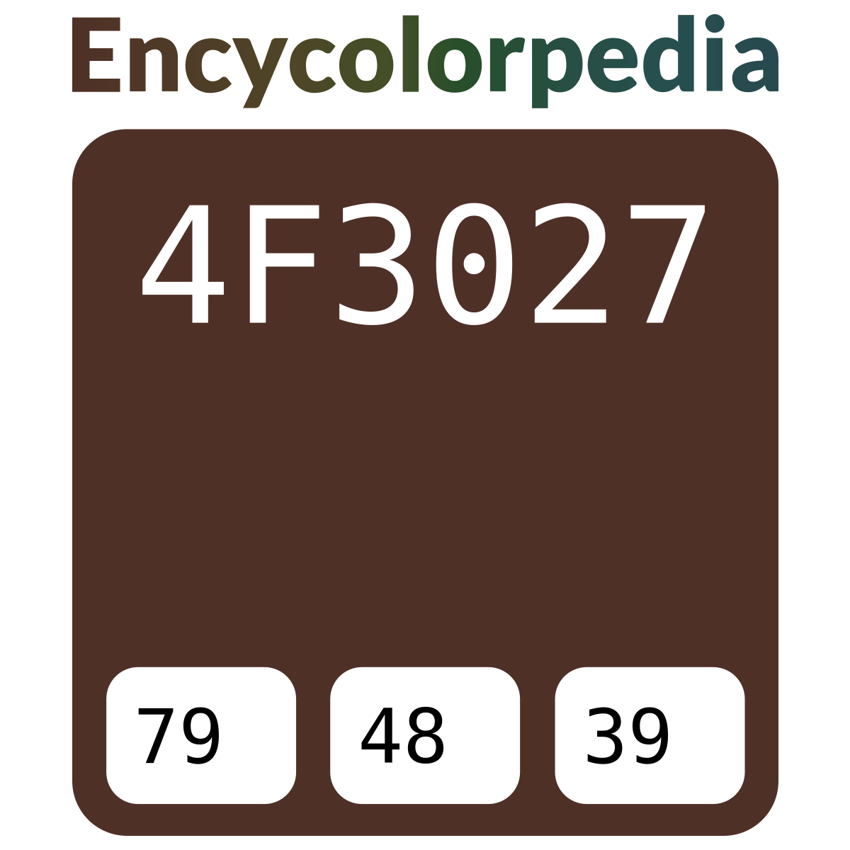 Tabella Colori Sikkens Ral sikkens c8.22.17 (ral 8016) / #4f3027 hex color code, rgb