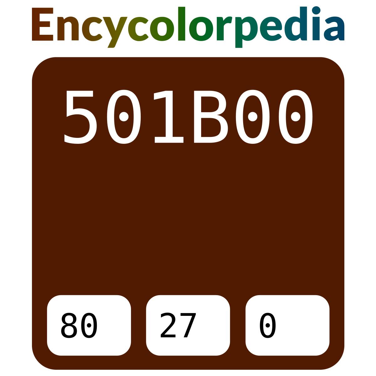 Krylon Leather Brown / #501b00 Hex Color Code Schemes & Paints