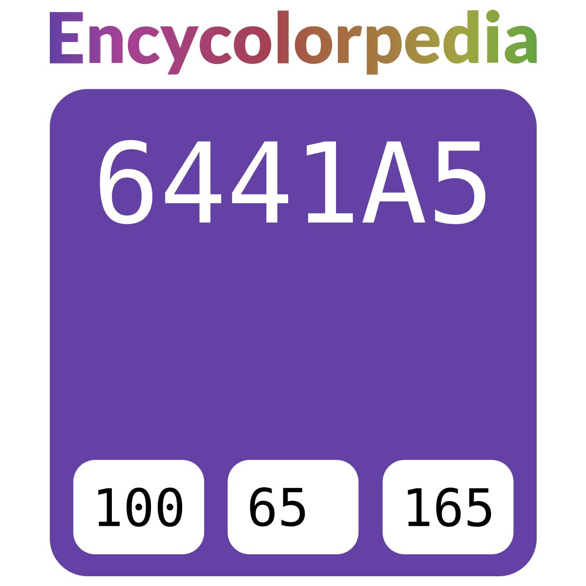Twitch tv / #6441a5 Hex Color Code Schemes & Paints