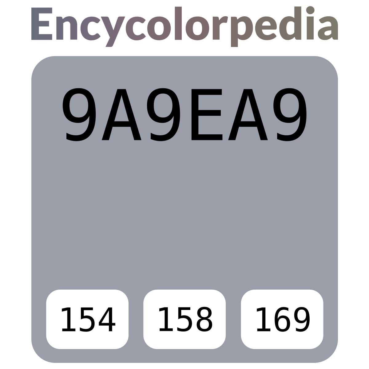 Glidden Smoky Charcoal glidden smoky charcoal / #9a9ea9 hex color code schemes & paints