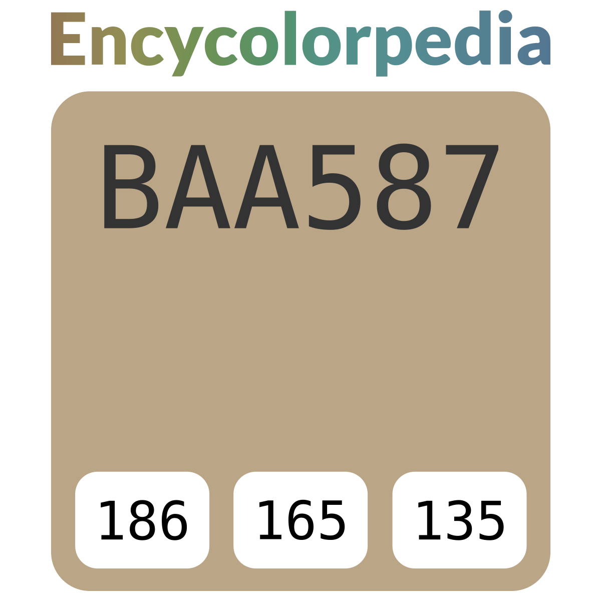 #baa587 Hex Color Code Schemes & Paints