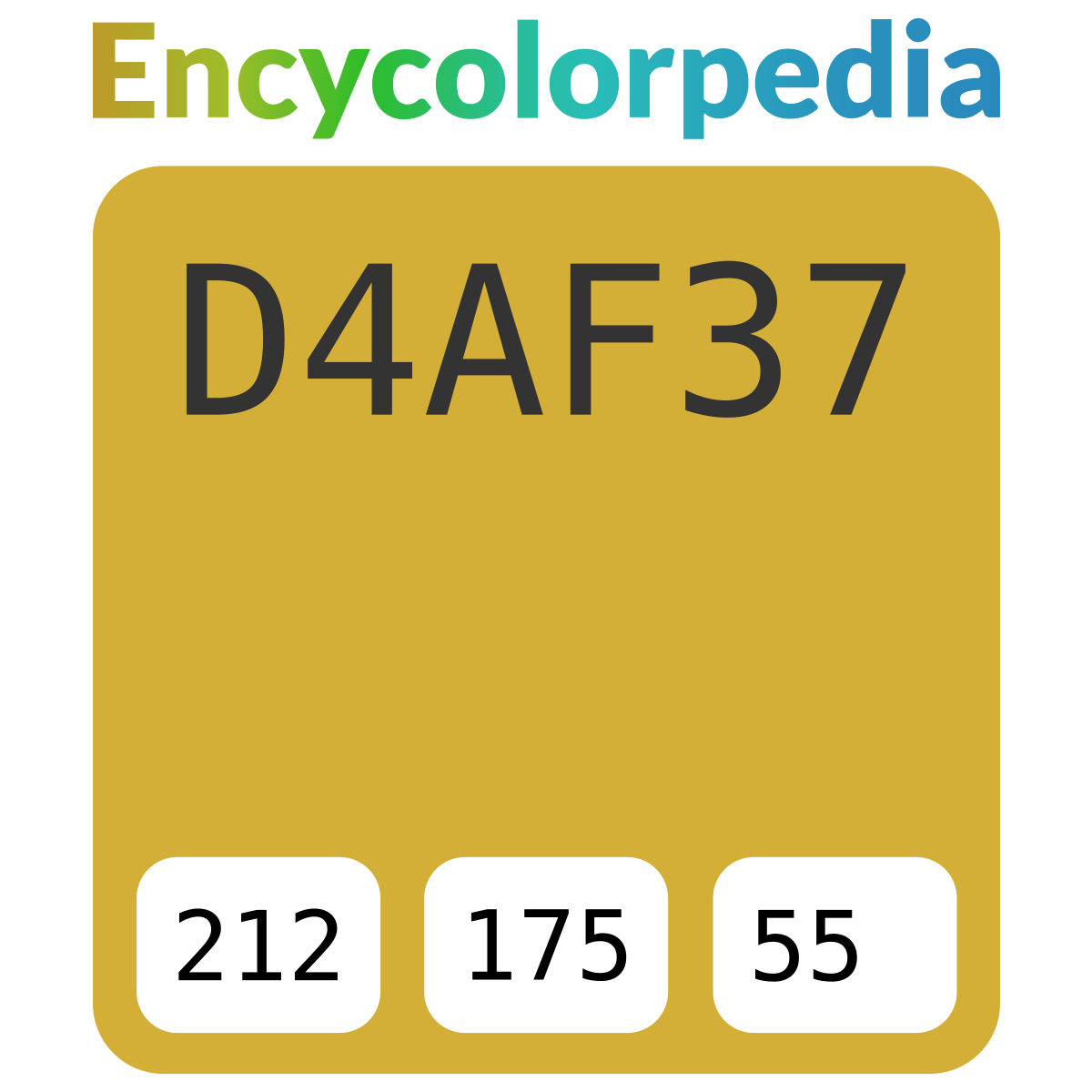 Gold (metallic) / #d4af37 Hex Color Code Schemes & Paints