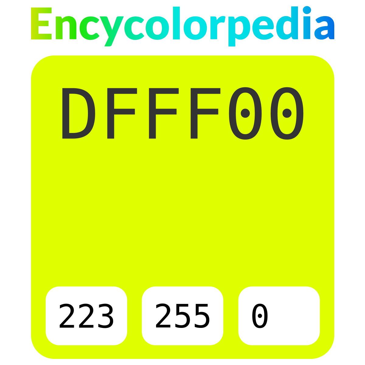 chartreuse  traditional      dfff00 hex color code schemes  u0026 paints