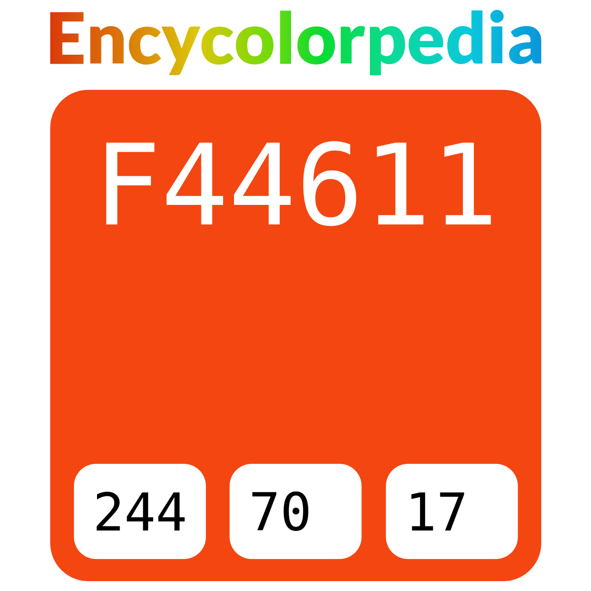#f44611 Hex Color Code Schemes & Paints